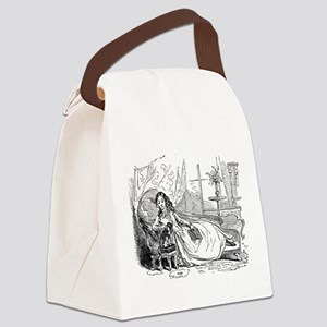 Relaxing Reader Canvas Lunch Bag