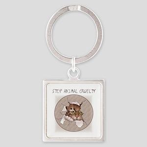 Stop Animal Cruelty 2000x2000 Keychains