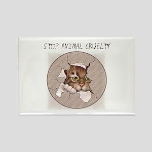 Stop Animal Cruelty 2000x2000 Rectangle Magnet