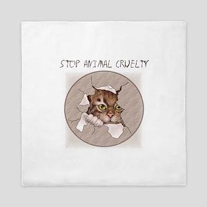 Stop Animal Cruelty 2000x2000 Queen Duvet