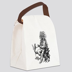 Native American Reader Canvas Lunch Bag