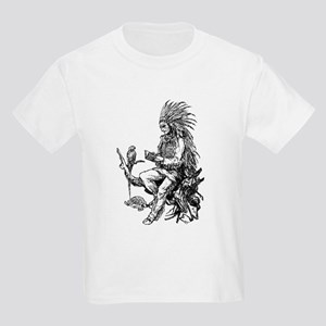 Native American Reader Kids Light T-Shirt