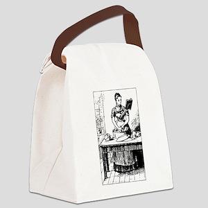 Dishwashing Reader Canvas Lunch Bag