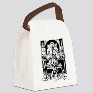 GIrl with Braid Canvas Lunch Bag