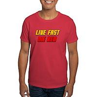 Live Fast Die Red Dark T-Shirt