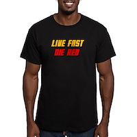 Live Fast Die Red Men's Fitted T-Shirt (dark)