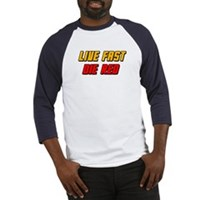 Live Fast Die Red Baseball Jersey