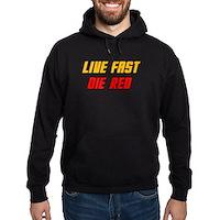 Live Fast Die Red Hoodie (dark)