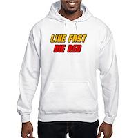 Live Fast Die Red Hooded Sweatshirt