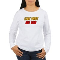 Live Fast Die Red Women's Long Sleeve T-Shirt
