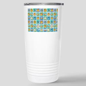 Coffee & Doughnuts Stainless Steel Travel Mug