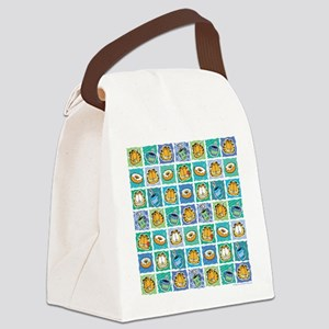 Coffee & Doughnuts Canvas Lunch Bag
