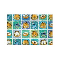 Coffee & Doughnuts Rectangle Magnet (100 pack)