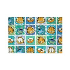 Coffee & Doughnuts Rectangle Magnet (10 pack)