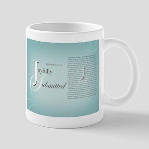 Joyfully Submitted logo and verses Mug