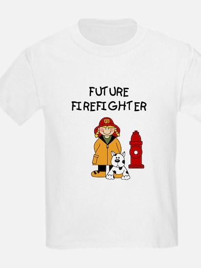 Future Firefighter (Girl) Kids T-Shirt