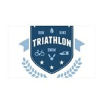 Triathlon 35x21 Wall Decal