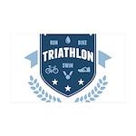 Triathlon 35x21 Wall Decal