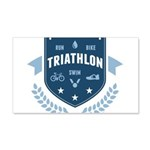 Triathlon 20x12 Wall Decal