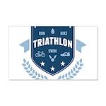Triathlon 20x12 Wall Decal