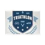 Triathlon Rectangle Magnet (10 pack)