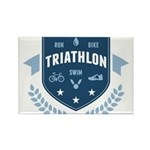 Triathlon Rectangle Magnet