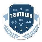 Triathlon Round Car Magnet