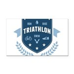 Triathlon Rectangle Car Magnet
