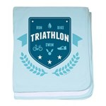 Triathlon baby blanket