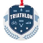 Triathlon Round Ornament