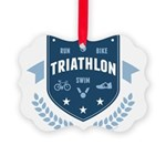 Triathlon Picture Ornament