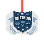 Triathlon Picture Ornament