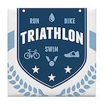 Triathlon Tile Coaster