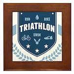 Triathlon Framed Tile