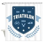 Triathlon Shower Curtain