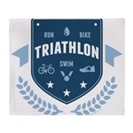 Triathlon Throw Blanket