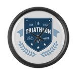 Triathlon Large Wall Clock
