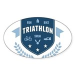 Triathlon Sticker (Oval)