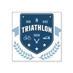 Triathlon Square Sticker 3