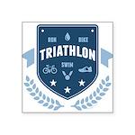 Triathlon Square Sticker 3