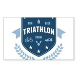 Triathlon Sticker (Rectangle 10 pk)