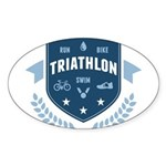 Triathlon Sticker (Oval 10 pk)