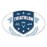 Triathlon Sticker (Oval 10 pk)