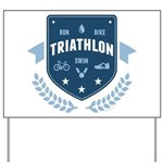 Triathlon Yard Sign