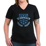 Triathlon Women's V-Neck Dark T-Shirt
