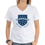 Triathlon Women's V-Neck T-Shirt