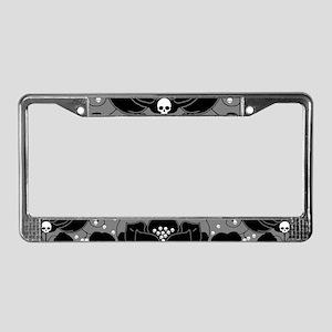 Gothic Skull Lily License Plate Frame