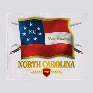 North Carolina -Deo Vindice Throw Blanket