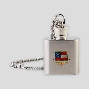 Mississippi -Deo Vindice Flask Necklace