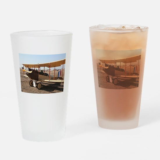 Curtiss Jenny Biplane Aircraft Drinking Glass